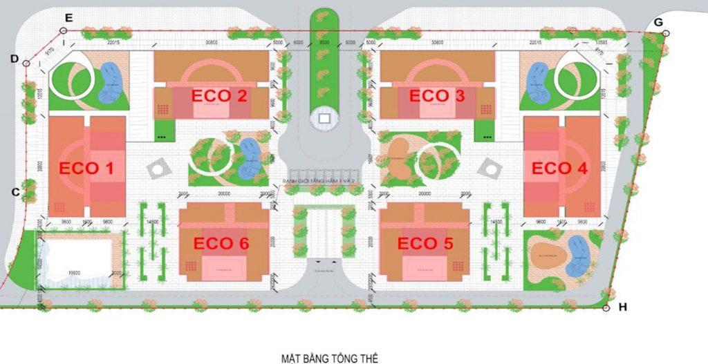 Mặt bằng tổng thể Eco Smart City Long Biên