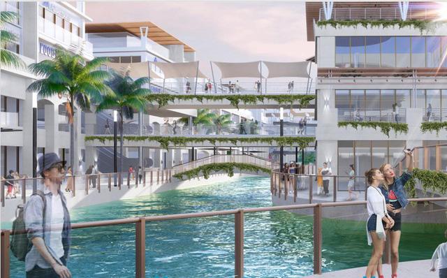 1 góc dự án Trung tâm thương mại Vịnh Đảo Ecopark