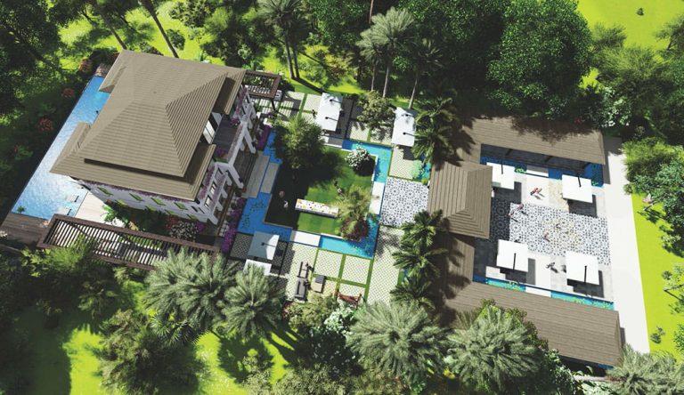 Wellness Resort là phân khu lớn nhất tại Sunshine Heritage Phúc Thọ Hà Nội
