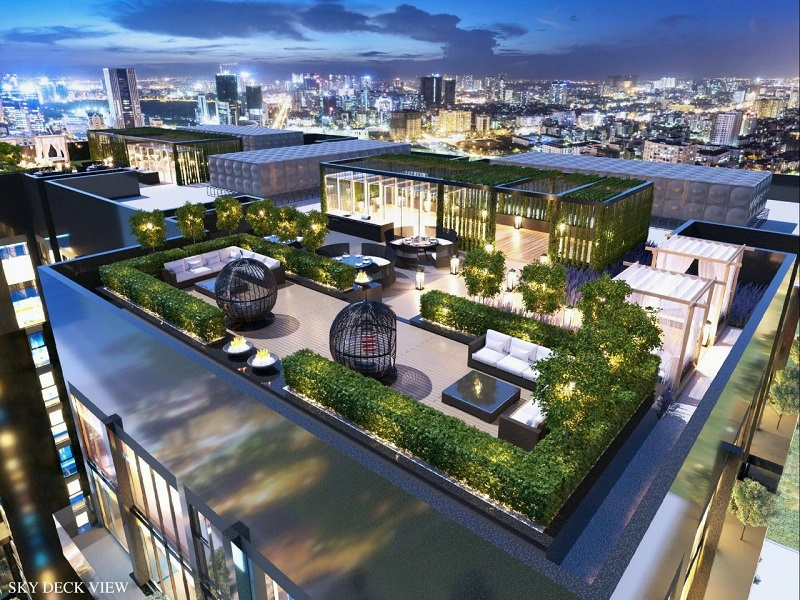 phối cảnh căn hộ Penthouse dự án Green Diamond 93 láng Hạ
