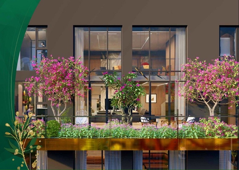 ban công chung cư green diamond building