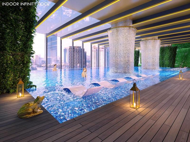 Phối cảnh bể bơi tại dự án Green Diamond 93 Láng Hạ