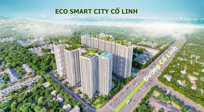 Phối cảnh chung cư Eco Smart City Cổ Linh - Long Biên