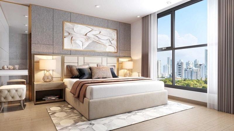 phối cảnh phòng ngủ chung cư T&T DC Complex 120 Định Công