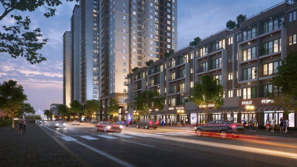 Phối cảnh Shophouse Eco Smart City Cổ Linh