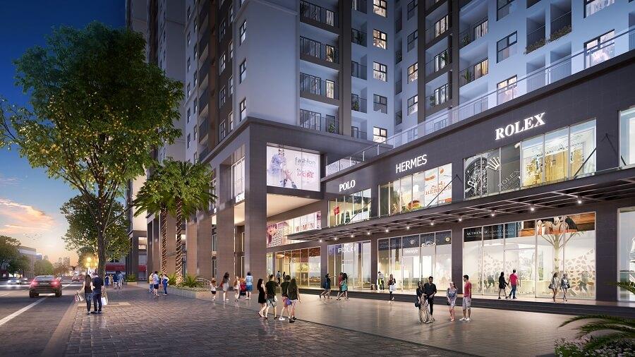 Phối cảnh 2 Shophouse Eco Smart City Cổ Linh
