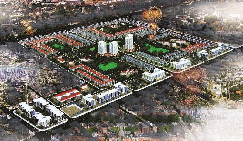 Phối cảnh tổng thể dự án Hud Mê Linh Central