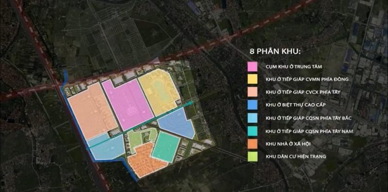 8 phân khu chính của Vinhomes Văn Giang Hưng Yên