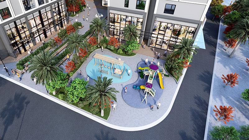 Phối cảnh 2 khuôn viên nội khu Eco Smart City Long Biên