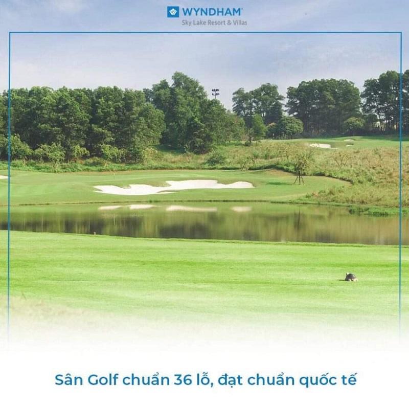 Sân Golf 36 hố tại Wyndham Sky Lake Resort & Villas Chương Mỹ