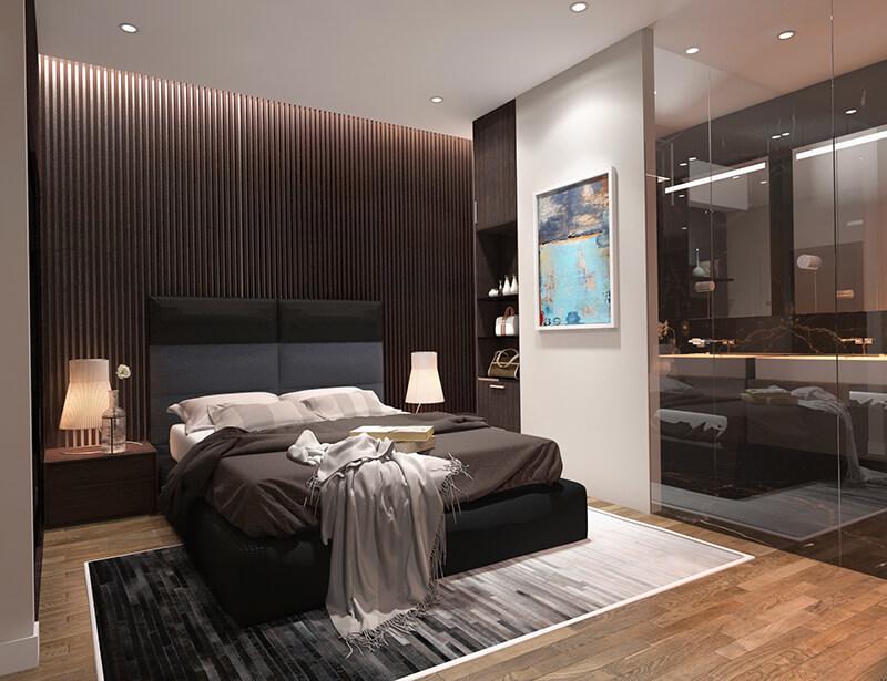 Phòng ngủ căn hộ 2 ngủ Eco Smart City Cổ Linh