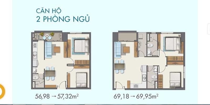 Thiết kế căn hộ 2 ngủ lavita Linh Đàm
