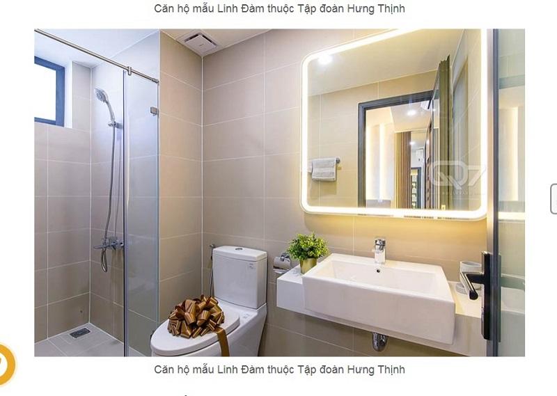 thiết kế phòng vệ sinh căn hộ mẫu lavita Hưng Thịnh