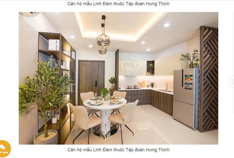 thiết kế phòng khách căn hộ mẫu lavita Hưng Thịnh
