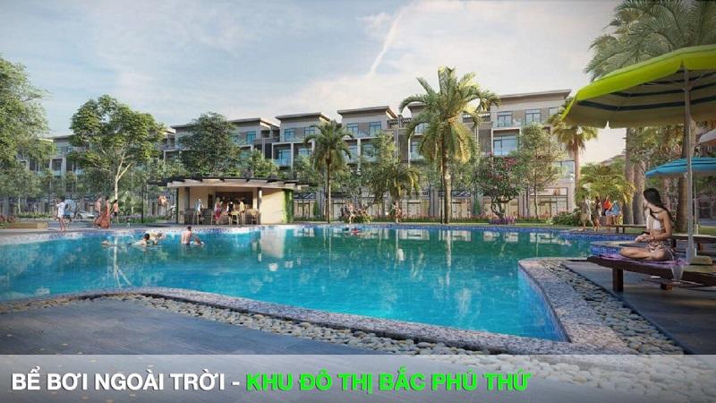 Bể bơi ngoài trời Khu đô thị Bắc Phú Thứ
