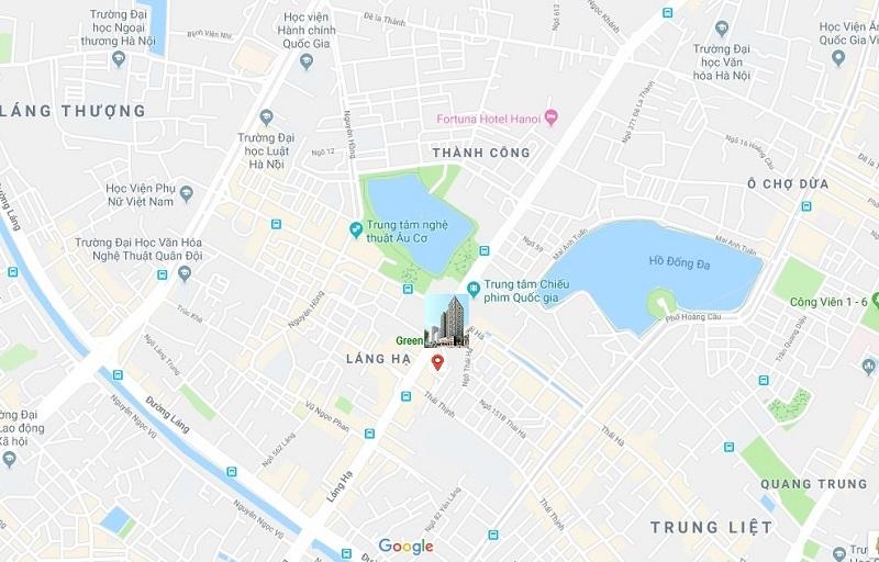 vị trí chung cư green diamond 93 láng hạ