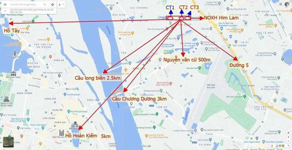 Vị trí Nhà ở xã hội Him Lam Thượng Thanh
