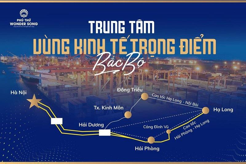 vị trí Phú Thứ Wonder Song Hải Dương