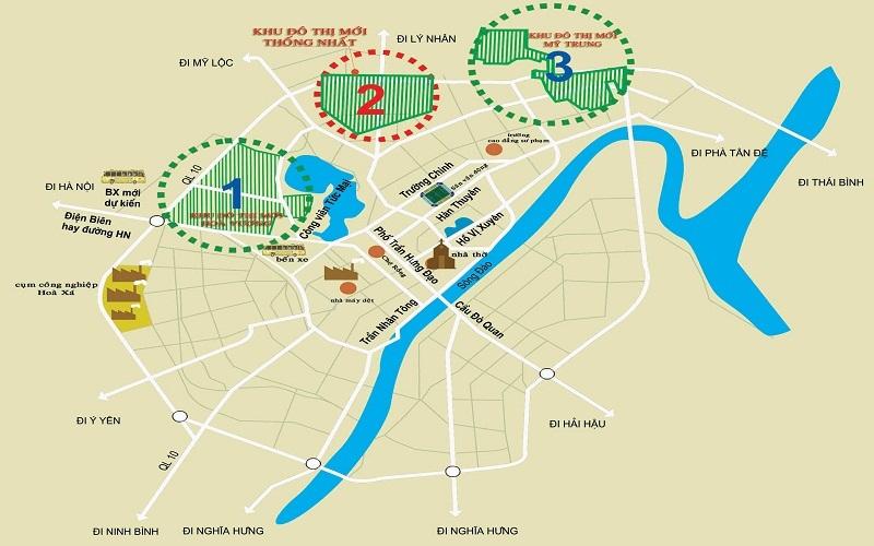 kết nối giao thông Khu đô thị mới Mỹ Trung - Nam Định