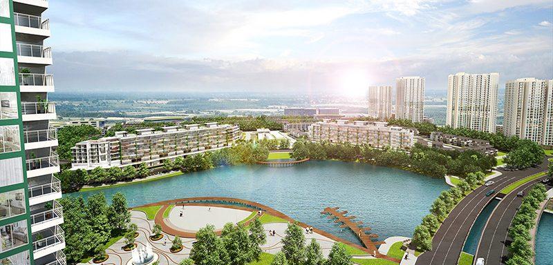 Cảnh quan khu đô thị ecopark Hưng Yên