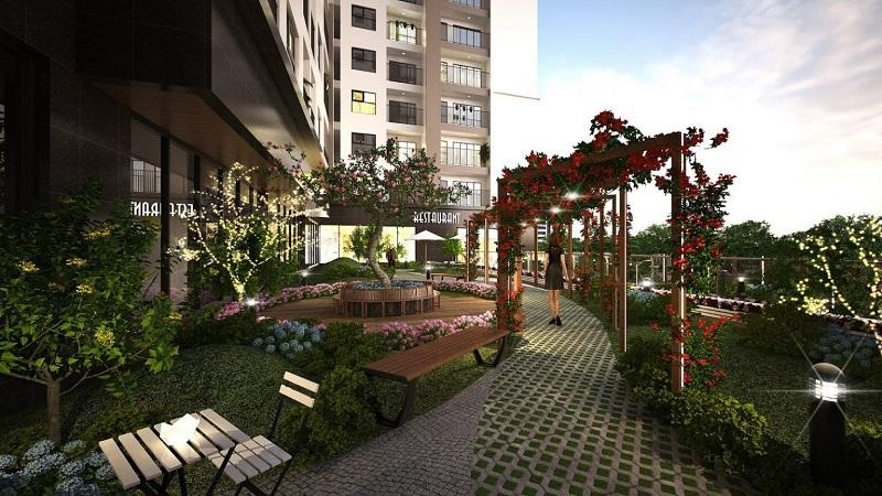 Phối cảnh vườn trên cao Eco Smart City Cổ Linh - Long Biên