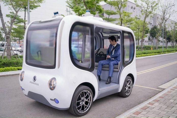 Xe điện không người lái tại khu đô thị Ecopark