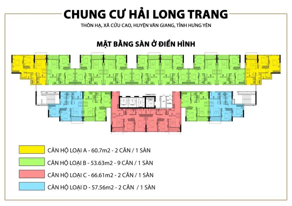 Mặt bằng điển hình Chung cư Trust City Hưng Yên