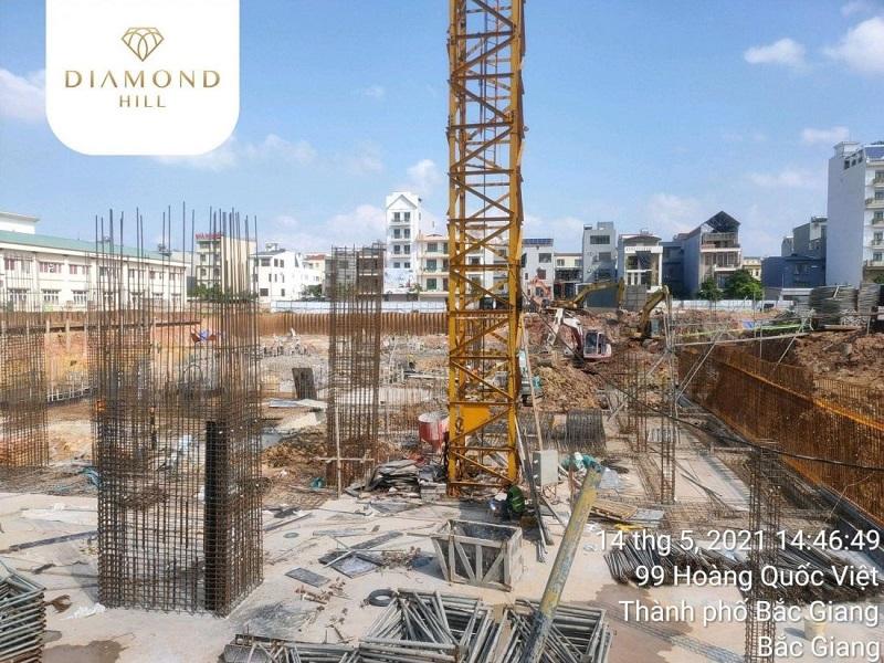 ảnh thực tế 2 tiến độ dự án tháp đôi Bách Việt