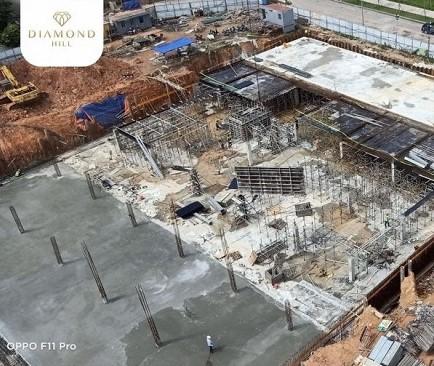 ảnh thực tế 4 tiến độ dự án tháp đôi Bách Việt