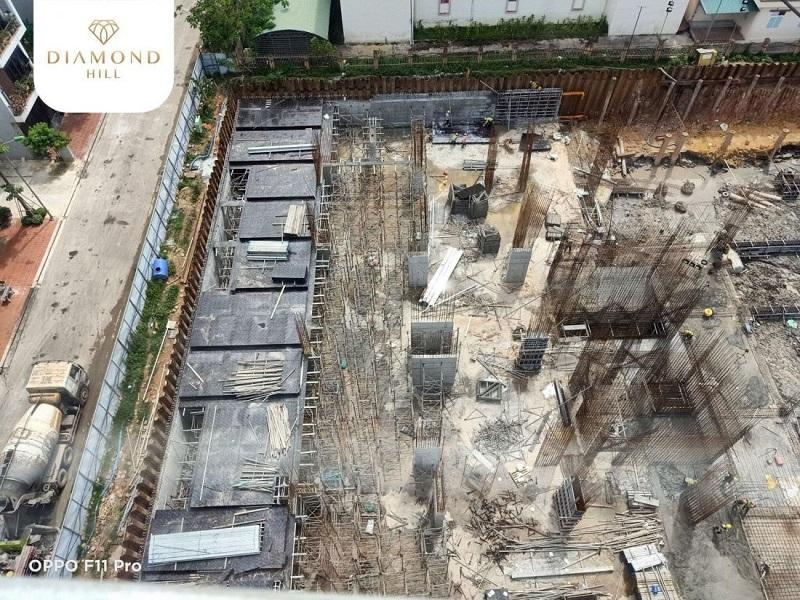 ảnh thực tế 3 tiến độ dự án tháp đôi Bách Việt
