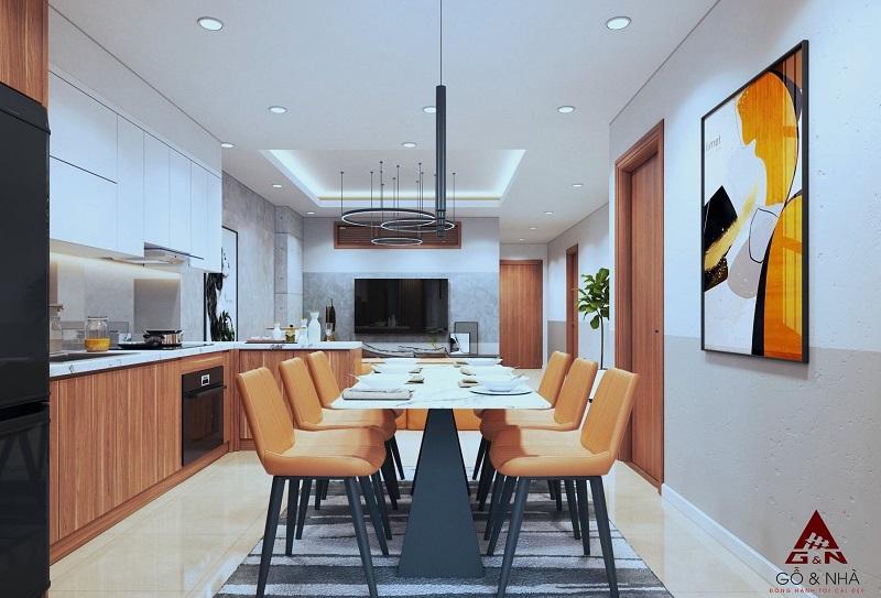 Ảnh mẫu 2 thiết kế căn 3 ngủ chung cư 16 Láng Hạ Grand Plaza