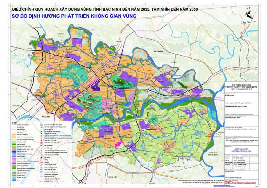 Bản đồ quy hoạch tỉnh Bắc Ninh