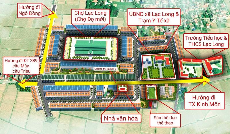 tiện ích kết nối Khu đô thị mới Lạc Long - Hải Dương