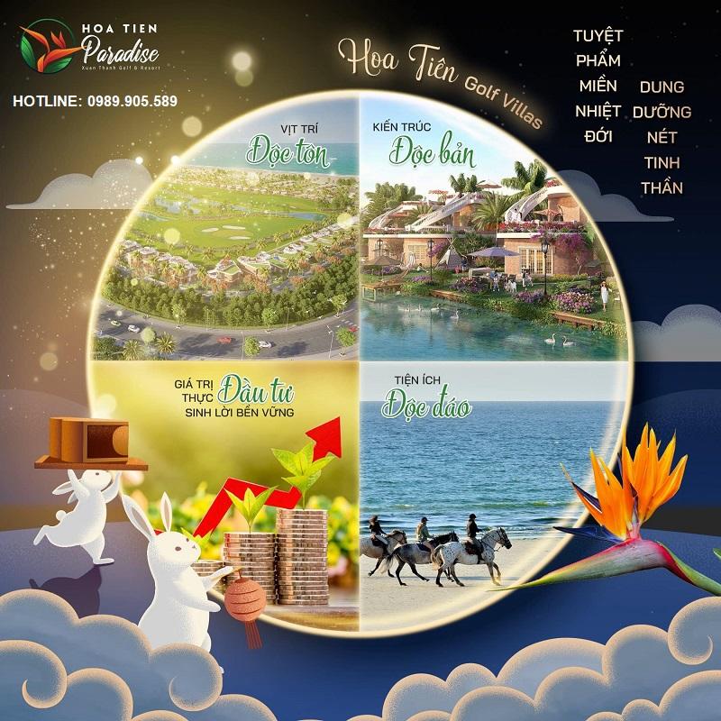 10 lý do đầu tư biệt thự Golf Hoa Tiên Villas - Xuân Thành - Hà Tĩnh