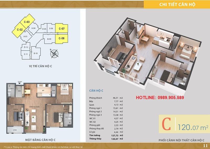 Thiết kế căn hộ 3 ngủ chung cư Lacasta Tower Văn Phú - 2