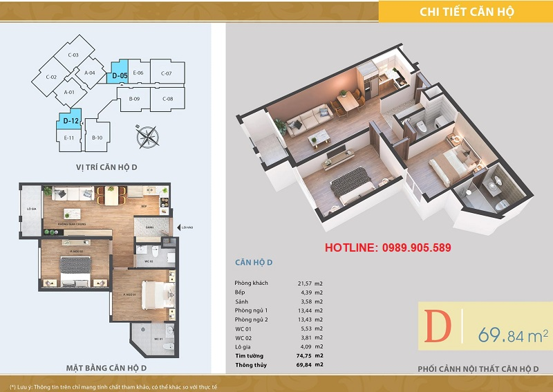 Thiết kế căn hộ 2 ngủ Lacasta Tower Văn Phú - 2