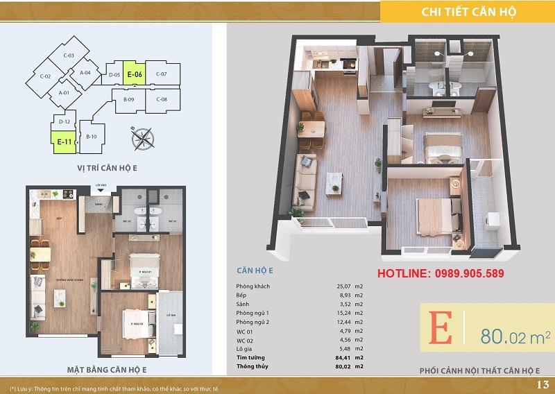 Thiết kế căn hộ 2 ngủ Lacasta Tower Văn Phú - 3
