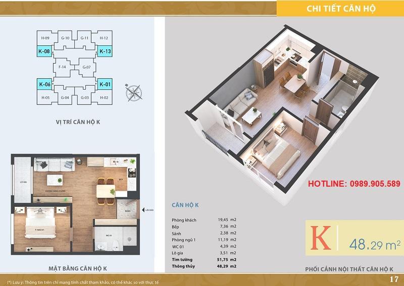 Thiết kế căn hộ 1 ngủ Lacasta Tower Văn Phú