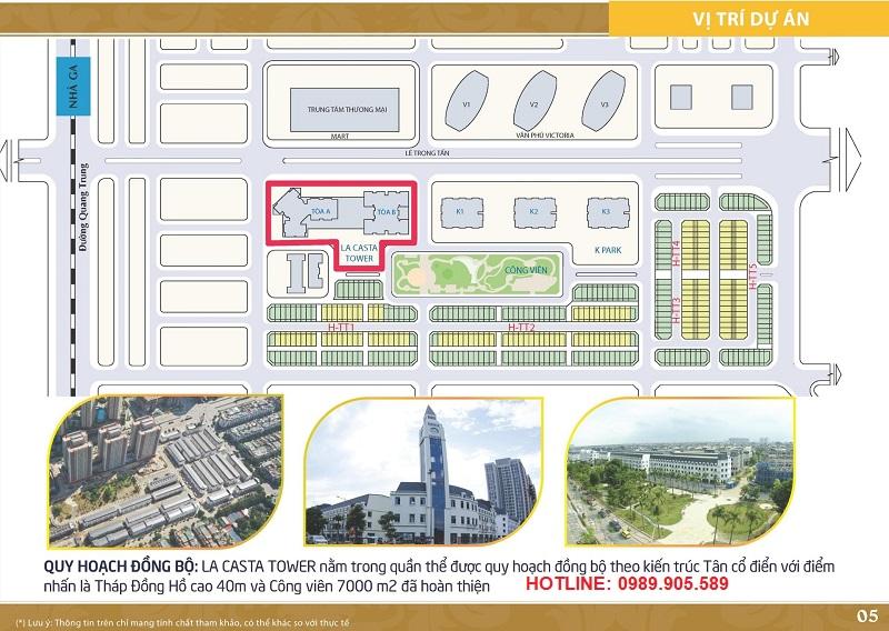 Vị trí chung cư Lacasta Tower trong khu đô thị Văn Phú Hà Đông