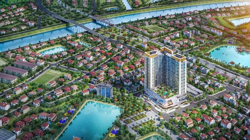 Phối cảnh 2 khu đô thị Vinhomes Sky Park Bắc Giang