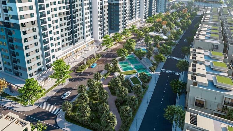 Phối cảnh dự án Stella City AMC Quảng Thành