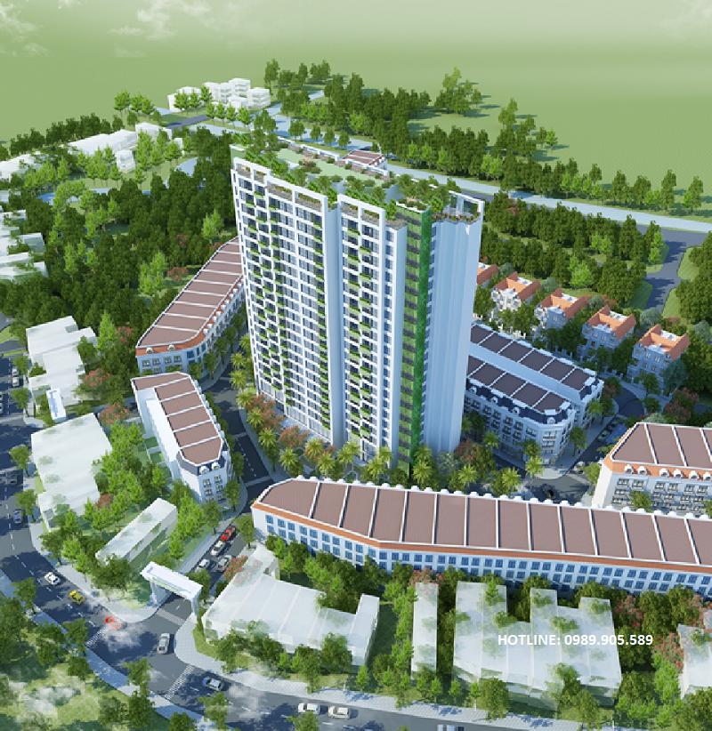 Phối cảnh 2 chung cư Trust City Dragon Park Văn Giang