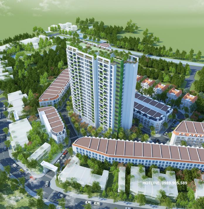 Phối cảnh chung cư Trust City Hưng Yên