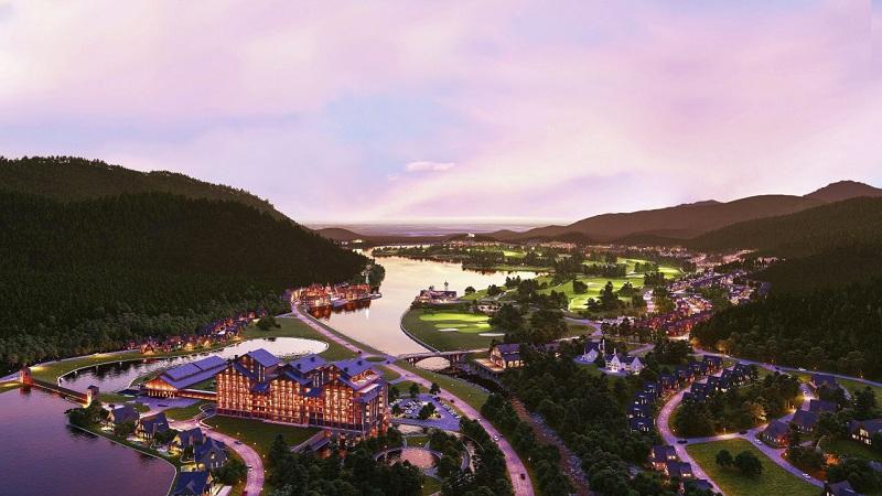 Phối cảnh Serena Thanh Lanh Resort Vĩnh Phúc về đêm