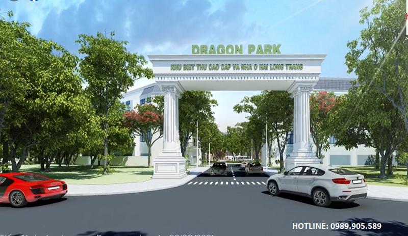 Cổng vào Chung cư Trust City khu đô thị Dragon Park Hải Long Trang