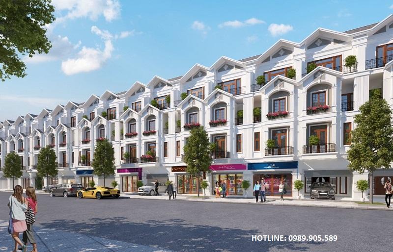 Phối cảnh Shophouse Khu đô thị mới phía đông Chí Linh