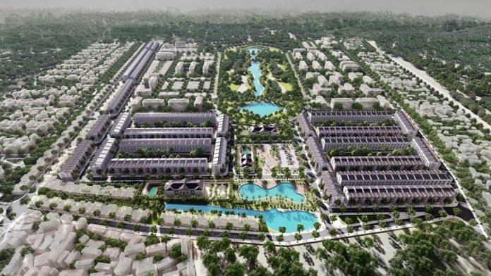 Phối cảnh tổng thể 1 đất đấu giá Đông Yên - Yên Phong - Bắc Ninh