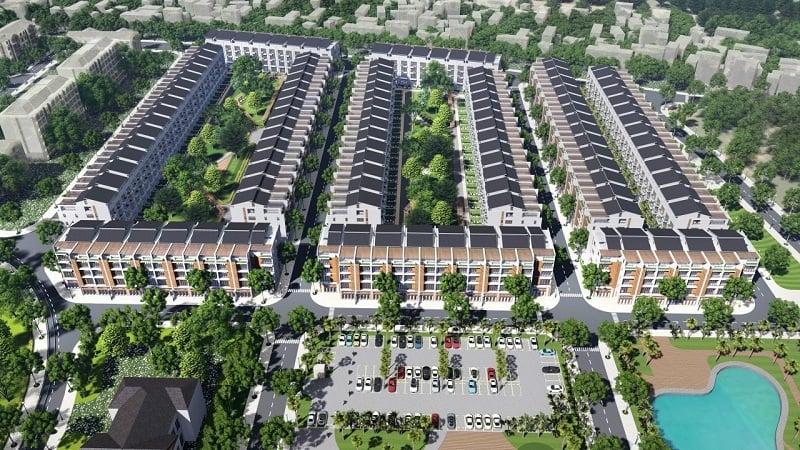 Bãi đỗ xe khu đấu giá Đông Yên - Văn Phú Invest
