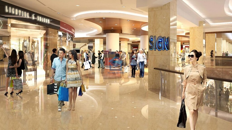 Phối cảnh trung tâm thương thương mại Orchard Park Hà Nội