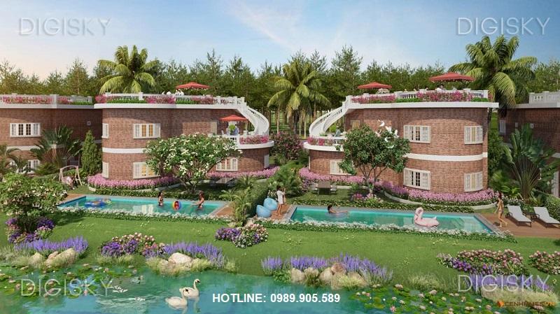 Biệt thự Hoa Tiên Golf Villas view rừng thông, có bể bơi riêng
